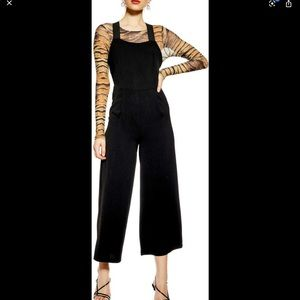 TOPSHOP elastic strap jumpsuit-black-size2-NWOT